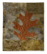 Leaf Life 01 -brown 01b2 Fleece Blanket