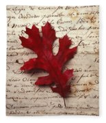 Leaf On Letter Fleece Blanket