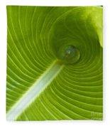 Leaf Tube Fleece Blanket
