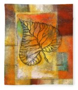 Leaf Whisper 4 Fleece Blanket