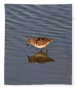 Least Sandpiper Fleece Blanket