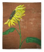 Leavenworth Sunflower  Fleece Blanket
