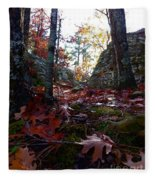 Leaves In The Forest Fleece Blanket