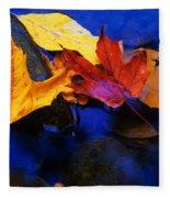 Leaves Of Autumn Fleece Blanket