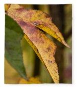 Leaves Of Fall Fleece Blanket