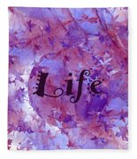 Leaves Of Life Fleece Blanket