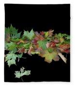 Leaves On Sidewalk Fleece Blanket
