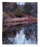 Leaves On Water Fleece Blanket