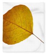 Leaves Ten  Fleece Blanket