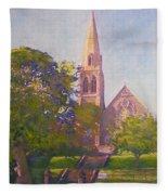 Leckie Memorial  Church  Peebles Scotland Fleece Blanket