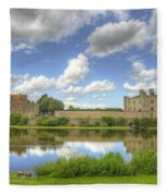 Leeds Castle Reflected Fleece Blanket