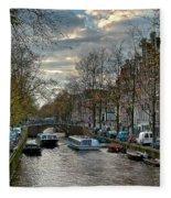 Leidsegracht. Amsterdam Fleece Blanket