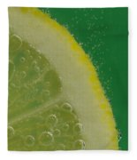 Lemon Slice Soda 2 Fleece Blanket
