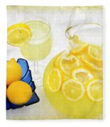Lemonade And Summertime Fleece Blanket