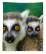 Lemurs Fleece Blanket