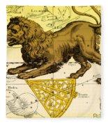Leo, The Hevelius Firmamentum, 1690 Fleece Blanket