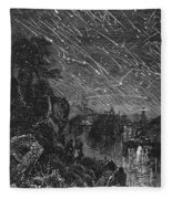 Leonid Meteor Shower, 1833 Fleece Blanket
