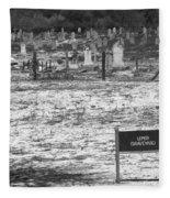 Leper Graveyard On Robben Island Fleece Blanket