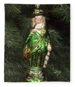 Leprechaun Christmas Ornament Fleece Blanket
