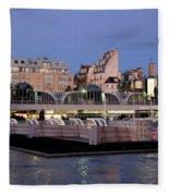 Les Halles In Paris Fleece Blanket