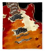 Classic Guitar Abstract Fleece Blanket