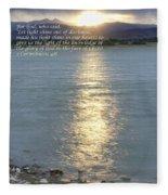 Let Light Shine Out Of Darkness Fleece Blanket