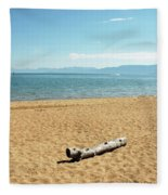 Let Sleeping Logs Lie Fleece Blanket