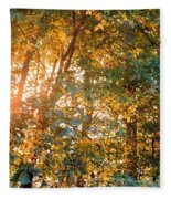 Let The Earth Arise Fleece Blanket