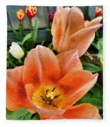 Lets All Dance For The Tulips Are Out Fleece Blanket