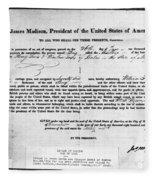 Letter Of Marque, 1812 Fleece Blanket