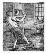 Letter Press Printer, 1807 Fleece Blanket