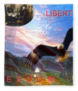 Liberty And Freedom Fleece Blanket
