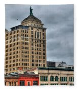 Liberty Building And Hotel Lafayette Fleece Blanket