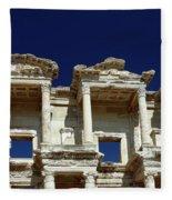 Library Of Celsus In Ephesus Fleece Blanket