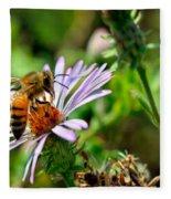 Lick Of A Bee Fleece Blanket