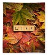 Life-autumn Fleece Blanket
