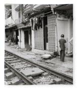 Life By The Tracks In Old Hanoi Fleece Blanket