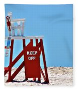 Life Guard Stand Fleece Blanket