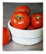 Life Is Not A Bowl Of Cherries - Life Is A Bowl Of Tomatoes Fleece Blanket