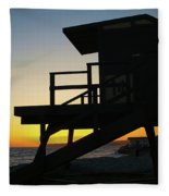 Lifeguard Silhouette Fleece Blanket