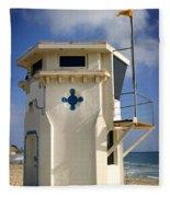 Lifeguard Tower Fleece Blanket