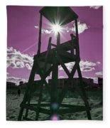 Lifeguard Tower II Fleece Blanket
