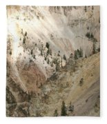 Light And Shadows In The Grand Canyon In Yellowstone Fleece Blanket
