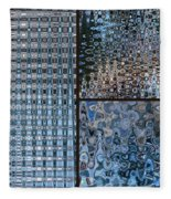 Light Blue And Brown Textural Abstract Fleece Blanket