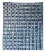 Light Blue And Gray Abstract Fleece Blanket
