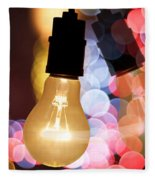 Light Bulb And Bokeh Fleece Blanket