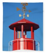 Light House On Coney Island Fleece Blanket