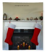 Light Of Christmas Fleece Blanket
