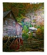 Light On The Mill Fleece Blanket
