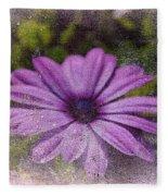 Light Purple Daisy Fleece Blanket